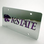 Kansas State Inlaid Acrylic Licence Plate - Silver Mirror Background
