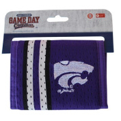 Kansas State Wildcats Gameday Outfitters Purple Mesh Striped Logo hook and loop Wallet