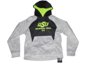 Oklahoma State Cowboys Under Armour Youth Grey Pullover Hoodie Sweatshirt