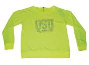 Oklahoma State Cowboys Gear for Sports Women Neon Yellow Zip Back Sweatshirt