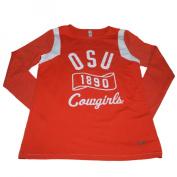 Oklahoma State Cowboys UA Under Armour Women Orange Cold Gear LS T-Shirt