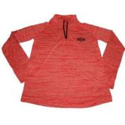 Oklahoma State Cowboys UA Girls Orange 1/4 Zip LS T-Shirt
