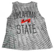 Oklahoma State Cowboys UA Women Grey Loose Heat Gear Tank Top
