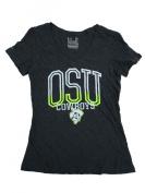 Oklahoma State Cowboys Under Armour Women Grey HeatGear V-Neck T-Shirt