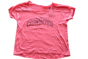 Oklahoma State Cowboys Gear for Sports Womens Wide Collar Pink T-Shirt