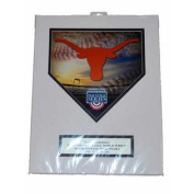 """Texas Longhorns Ready to Frame 2011 CWS """"Die Cut Homeplate"""" Picture 28cm X 36cm"""