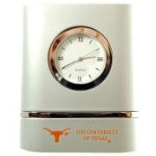 Texas Longhorns Brushed Silver Desk Clock