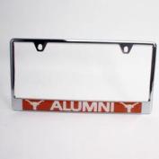 Texas Longhorns Alumni Metal Licence Plate Frame W/domed Insert - Orange Background