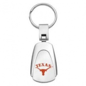 Texas Longhorns Chrome Colour Teardrop Key Chain
