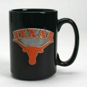 Texas Longhorns 440ml Black Ceramic Mug