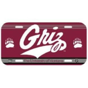 Montana Grizzlies Plastic Licence Plate