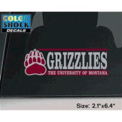 Montana Grizzlies Decal - Paw Logo W/ Grizzlies Over The University Of Montana