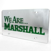 """Marshall Inlaid Acrylic Licence Plate - """"We Are"""" Green"""