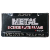 Army Black Knights Metal Licence Plate Frame w/Domed Insert
