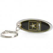 Army Black Knights Metal Key Chain W/domed Insert