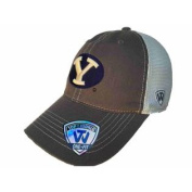 BYU Cougars TOW Grey Putty Two Tone Mesh One Fit Flexfit Hat Cap