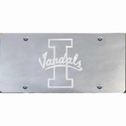 Idaho Vandals Inlaid Acrylic Licence Plate - Silver Mirror Background