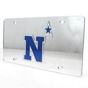 Navy Midshipmen Inlaid Acrylic Licence Plate - Silver