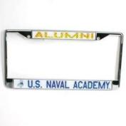 Navy Midshipmen Alumni Metal Licence Plate Frame W/domed Insert