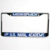 Navy Midshipmen Metal Licence Plate Frame W/domed Insert