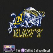 Navy Midshipmen Decal - Mascot Over Navy