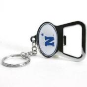 Navy Midshipmen Metal Key Chain And Bottle Opener W/domed Insert