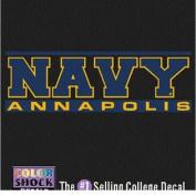 Navy Midshipmen Decal - Navy Over Annapolis