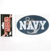 Navy Midshipmen High Performance Decal - Oval With Anchor