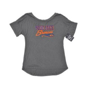Boise State Broncos Women Grey Longer Back Short Sleeve T-Shirt