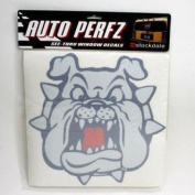 "Fresno State Bulldogs ""bulldog"" Perforated Vinyl Window Decal"
