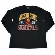 Arizona State Sun Devils Champion Black Big Logo Long Sleeve Cotton T-Shirt