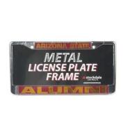 Arizona State Sun Devils Alumni Metal Licence Plate Frame W/dome Insert - Maroon Background