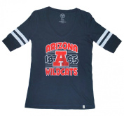 Arizona Wildcats 47 Brand Women Navy & Red Half Sleeve V-Neck T-Shirt