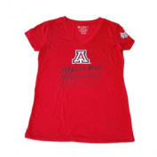 Arizona Wildcats Colosseum Women Red Short Sleeve V-Neck T-Shirt