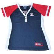 Arizona Wildcats Colosseum Women Navy 3 Button V-Neck Performance T-Shirt
