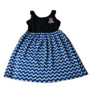 Arizona Wildcats Colosseum Girls Navy Blue Chevron Cotton Tank Top Dress