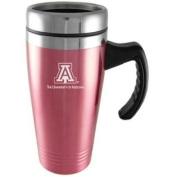 Arizona Wildcats Engraved 470ml Stainless Steel Travel Mug - Pink