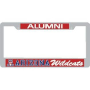 Arizona Wildcats Alumni Metal Licence Plate Frame W/domed Insert - Red Background