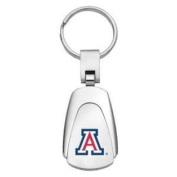Arizona Wildcats Chrome Colour Teardrop Key Chain
