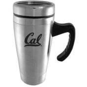California Golden Bears Engraved 470ml Stainless Steel Travel Mug - Silver