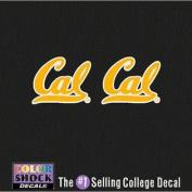 California Golden Bears Decal - Small California Golden Bears Logo - 2 Decals