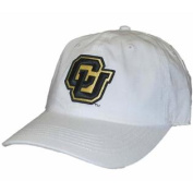 Colorado Buffaloes White Black Slouch Fitted Hat Cap