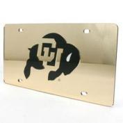 Colorado Buffaloes Inlaid Acrylic Licence Plate - Gold