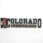 """Colorado Buffaloes High Performance Decal - """"Colorado"""" Over """" Buffaloes"""""""