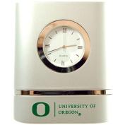 Oregon Ducks Brushed Silver Desk Clock