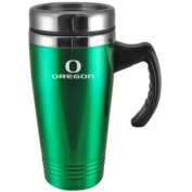 Oregon Ducks Engraved 470ml Stainless Steel Travel Mug - Green