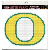 Oregon Ducks Perforated Vinyl Window Decal - O Logo Yellow with Green Outline