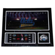 UCLA Bruins RTF The Road to Omaha 2012 College World Series Suede Print 16 X 20
