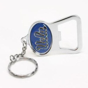 Ucla Bruins Metal Key Chain And Bottle Opener W/domed Insert - Ucla Bruins Blue Background