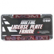 "Washington State Cougars Metal ""mom"" Inlaid Acrylic Licence Plate Frame"